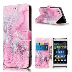 Pink Seawater PU Leather Wallet Case for Huawei P8 Lite P8lite