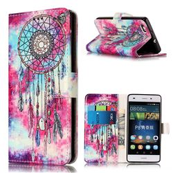 Butterfly Chimes PU Leather Wallet Case for Huawei P8 Lite P8lite
