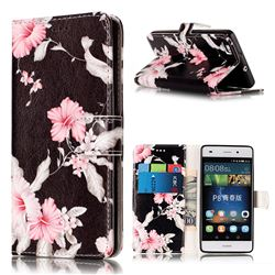 Azalea Flower PU Leather Wallet Case for Huawei P8 Lite P8lite
