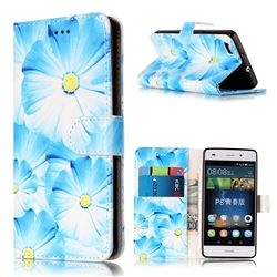 Orchid Flower PU Leather Wallet Case for Huawei P8 Lite P8lite