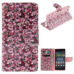 Intensive Floral PU Leather Wallet Case for Huawei P8 Lite P8lite