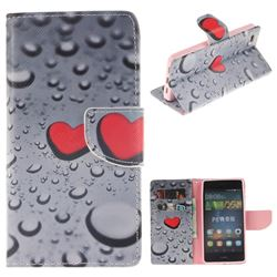 Heart Raindrop PU Leather Wallet Case for Huawei P8 Lite P8lite