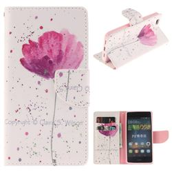 Purple Orchid PU Leather Wallet Case for Huawei P8 Lite P8lite