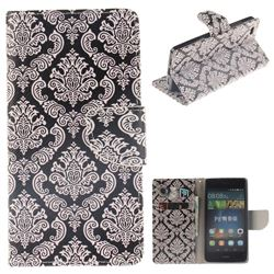 Totem Flowers PU Leather Wallet Case for Huawei P8 Lite P8lite