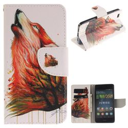 Color Wolf PU Leather Wallet Case for Huawei P8 Lite P8lite