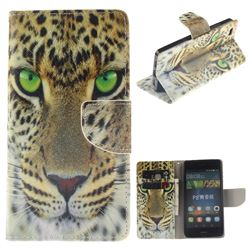 Yellow Tiger PU Leather Wallet Case for Huawei P8 Lite P8lite
