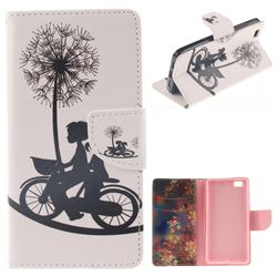 Cycling Dandelion PU Leather Wallet Case for Huawei P8 Lite P8lite