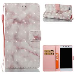 Beige Marble 3D Painted Leather Wallet Case for Huawei P8 Lite P8lite