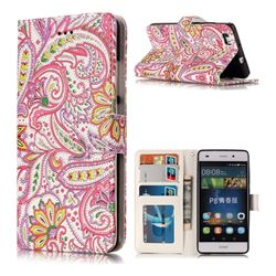 Pepper Flowers 3D Relief Oil PU Leather Wallet Case for Huawei P8 Lite P8lite