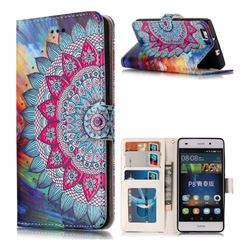 Mandala Flower 3D Relief Oil PU Leather Wallet Case for Huawei P8 Lite P8lite