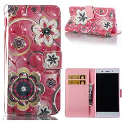 Tulip Flower 3D Painted Leather Wallet Case for Huawei P8 Lite P8lite