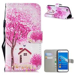 Tree House 3D Painted Leather Wallet Phone Case for Huawei P8 Lite P8lite