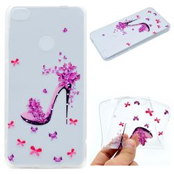 Petal High Heels Super Clear Soft TPU Back Cover for Huawei P8 Lite 2017 / P9 Honor 8 Nova Lite
