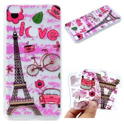 Love Eiffel Tower Super Clear Soft TPU Back Cover for Huawei P8 Lite 2017 / P9 Honor 8 Nova Lite