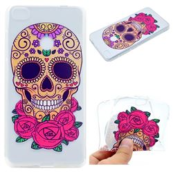 Skeleton Flower Super Clear Soft TPU Back Cover for Huawei P8 Lite 2017 / P9 Honor 8 Nova Lite