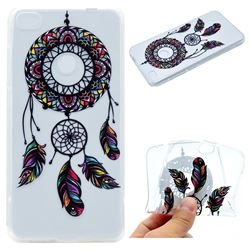 Feather Black Wind Chimes Super Clear Soft TPU Back Cover for Huawei P8 Lite 2017 / P9 Honor 8 Nova Lite