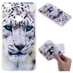 White Leopard 3D Relief Matte Soft TPU Back Cover for Huawei P8 Lite 2017 / P9 Honor 8 Nova Lite