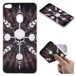 Compass Skulls 3D Relief Matte Soft TPU Back Cover for Huawei P8 Lite 2017 / P9 Honor 8 Nova Lite