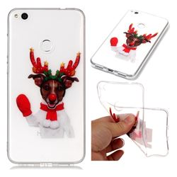Red Gloves Elk Super Clear Soft TPU Back Cover for Huawei P8 Lite 2017 / P9 Honor 8 Nova Lite