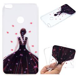 Wedding Girl Super Clear Soft TPU Back Cover for Huawei P8 Lite 2017 / P9 Honor 8 Nova Lite