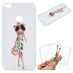 Bikini Girl Super Clear Soft TPU Back Cover for Huawei P8 Lite 2017 / P9 Honor 8 Nova Lite