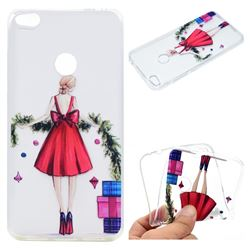 Christmas Girl Super Clear Soft TPU Back Cover for Huawei P8 Lite 2017 / P9 Honor 8 Nova Lite