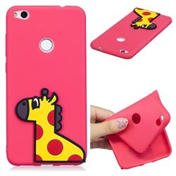 Yellow Giraffe Soft 3D Silicone Case for Huawei P8 Lite 2017 / P9 Honor 8 Nova Lite