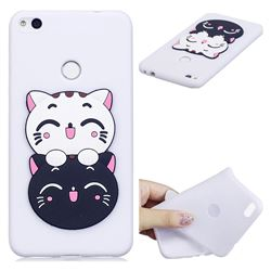 Couple Cats Soft 3D Silicone Case for Huawei P8 Lite 2017 / P9 Honor 8 Nova Lite