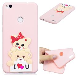 Love Bear Soft 3D Silicone Case for Huawei P8 Lite 2017 / P9 Honor 8 Nova Lite
