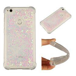 Dynamic Liquid Glitter Sand Quicksand Star TPU Case for Huawei P8 Lite 2017 / P9 Honor 8 Nova Lite - Pink