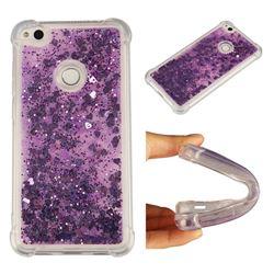 Dynamic Liquid Glitter Sand Quicksand Star TPU Case for Huawei P8 Lite 2017 / P9 Honor 8 Nova Lite - Purple