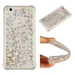 Dynamic Liquid Glitter Sand Quicksand Star TPU Case for Huawei P8 Lite 2017 / P9 Honor 8 Nova Lite - Silver