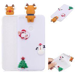 White Elk Christmas Xmax Soft 3D Silicone Case for Huawei P8 Lite 2017 / P9 Honor 8 Nova Lite
