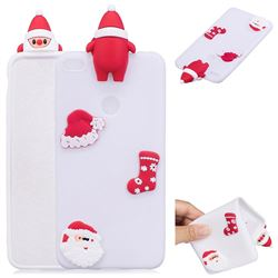 White Santa Claus Christmas Xmax Soft 3D Silicone Case for Huawei P8 Lite 2017 / P9 Honor 8 Nova Lite
