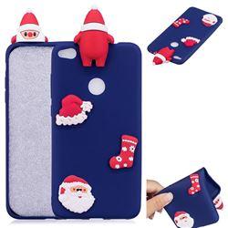 Navy Santa Claus Christmas Xmax Soft 3D Silicone Case for Huawei P8 Lite 2017 / P9 Honor 8 Nova Lite