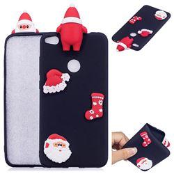 Black Santa Claus Christmas Xmax Soft 3D Silicone Case for Huawei P8 Lite 2017 / P9 Honor 8 Nova Lite