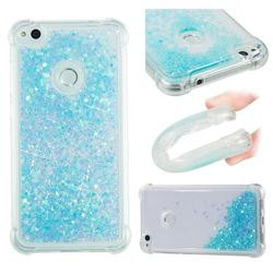 Dynamic Liquid Glitter Sand Quicksand TPU Case for Huawei P8 Lite 2017 / P9 Honor 8 Nova Lite - Silver Blue Star