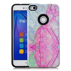 Pink Marble Pattern 2 in 1 PC + TPU Glossy Embossed Back Cover for Huawei P8 Lite 2017 / P9 Honor 8 Nova Lite