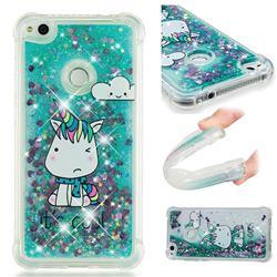 Tiny Unicorn Dynamic Liquid Glitter Sand Quicksand Star TPU Case for Huawei P8 Lite 2017 / P9 Honor 8 Nova Lite