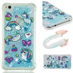 Fashion Unicorn Dynamic Liquid Glitter Sand Quicksand Star TPU Case for Huawei P8 Lite 2017 / P9 Honor 8 Nova Lite