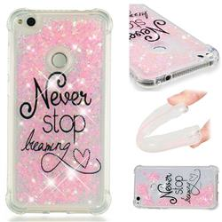 Never Stop Dreaming Dynamic Liquid Glitter Sand Quicksand Star TPU Case for Huawei P8 Lite 2017 / P9 Honor 8 Nova Lite