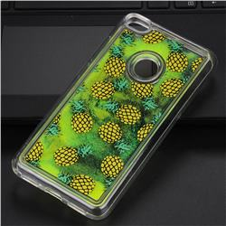 Pineapple Glassy Glitter Quicksand Dynamic Liquid Soft Phone Case for Huawei P8 Lite 2017 / P9 Honor 8 Nova Lite