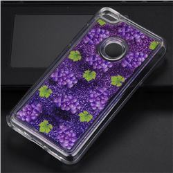 Purple Grape Glassy Glitter Quicksand Dynamic Liquid Soft Phone Case for Huawei P8 Lite 2017 / P9 Honor 8 Nova Lite