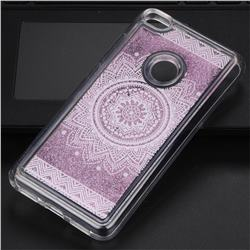 Mandala Glassy Glitter Quicksand Dynamic Liquid Soft Phone Case for Huawei P8 Lite 2017 / P9 Honor 8 Nova Lite