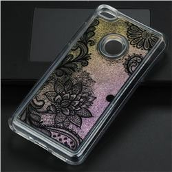 Diagonal Lace Glassy Glitter Quicksand Dynamic Liquid Soft Phone Case for Huawei P8 Lite 2017 / P9 Honor 8 Nova Lite