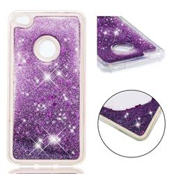 Dynamic Liquid Glitter Quicksand Sequins TPU Phone Case for Huawei P8 Lite 2017 / P9 Honor 8 Nova Lite - Purple