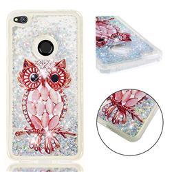 Seashell Owl Dynamic Liquid Glitter Quicksand Soft TPU Case for Huawei P8 Lite 2017 / P9 Honor 8 Nova Lite