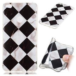 Black and White Matching Soft TPU Marble Pattern Phone Case for Huawei P8 Lite 2017 / P9 Honor 8 Nova Lite