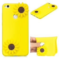 Yellow Sunflower Soft 3D Silicone Case for Huawei P8 Lite 2017 / P9 Honor 8 Nova Lite