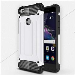 King Kong Armor Premium Shockproof Dual Layer Rugged Hard Cover for Huawei P8 Lite 2017 / P9 Honor 8 Nova Lite - White
